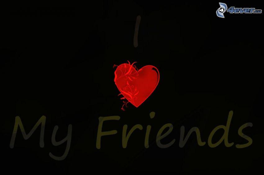 przyjaciele, serduszko