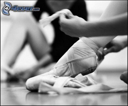 balerina, stopa
