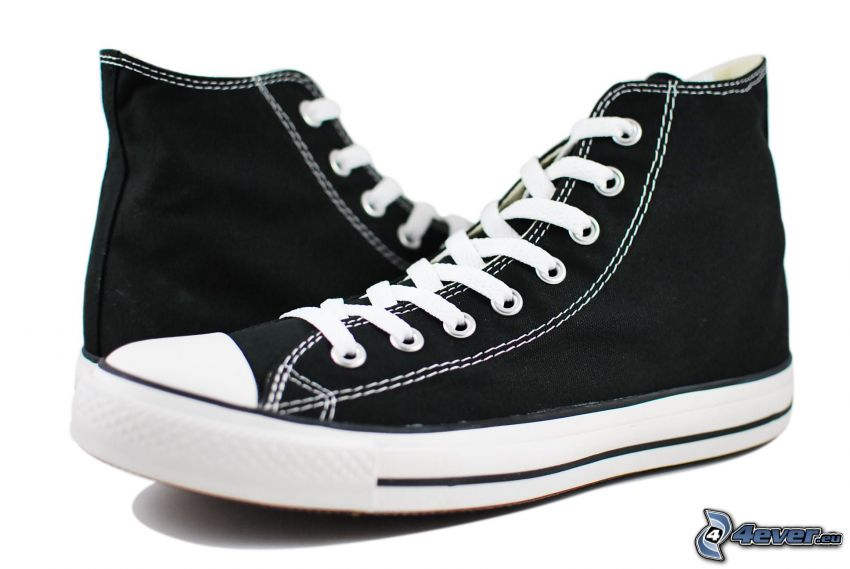 Converse, czarne trampki