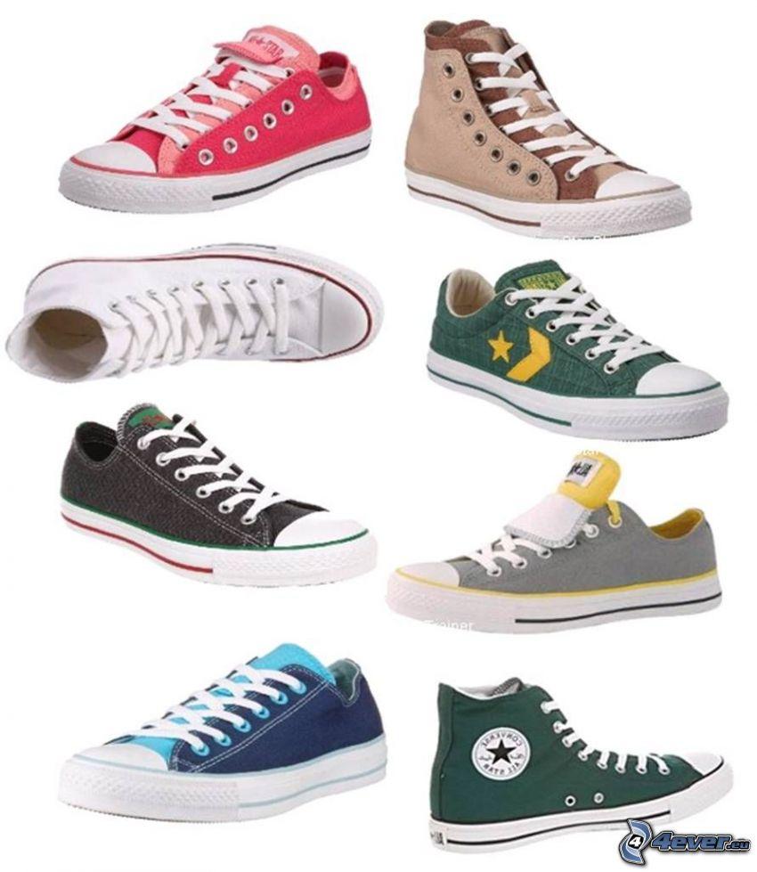 Converse, kolorowe trampki