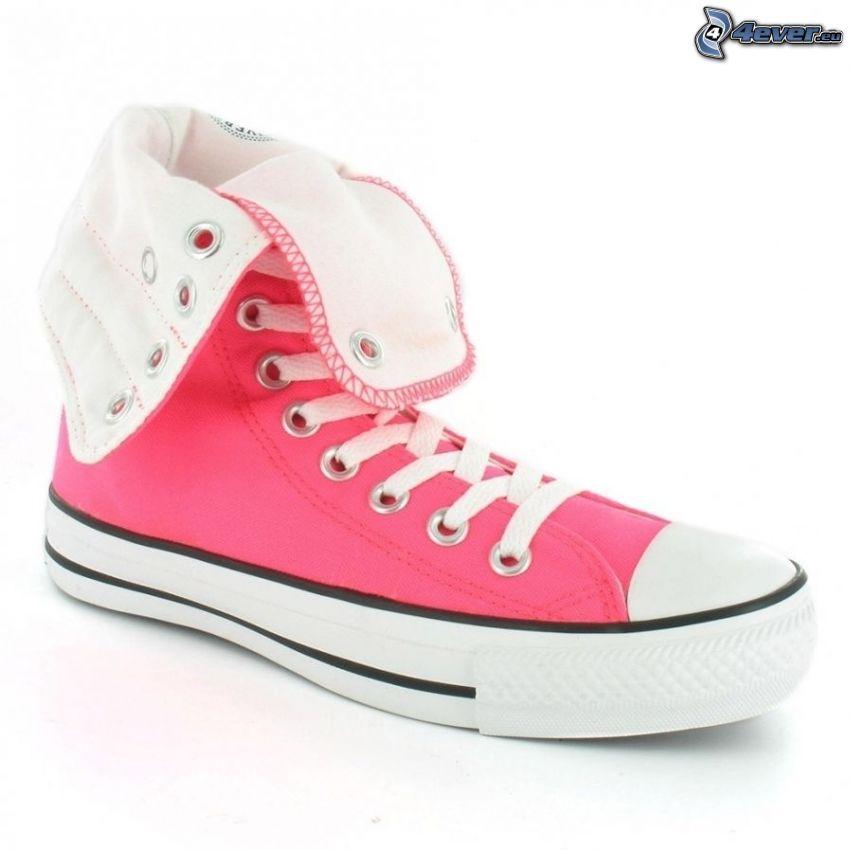 Converse, różowy trampek