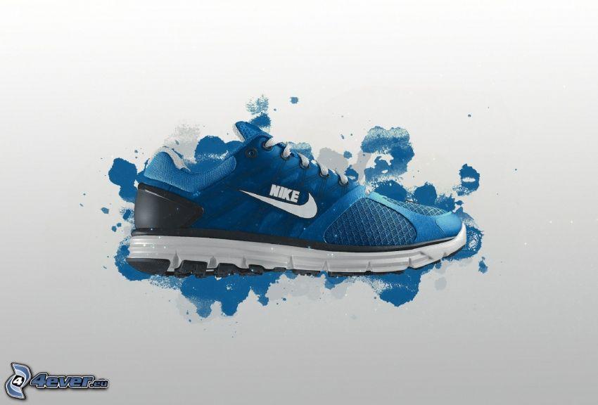 Nike, tenisówka, kleksy