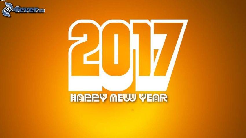 2017, Szczęśliwego Nowego Roku, happy new year, żółte tło