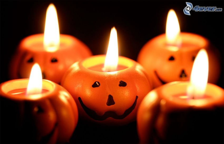Świeczki, halloween dynie