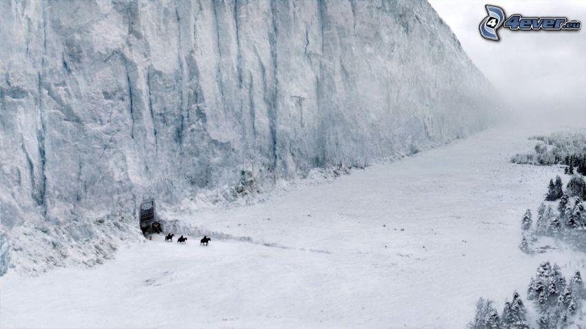 A Game of Thrones, śnieżny krajobraz