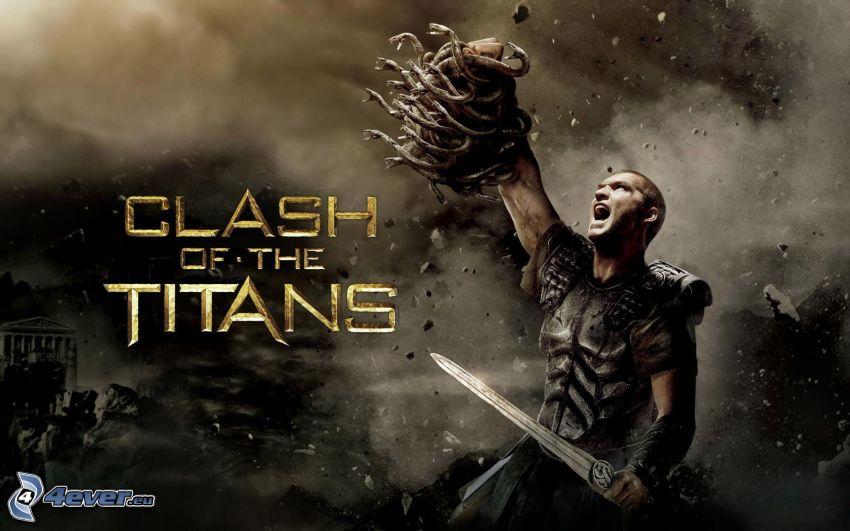 Clash of the titans, wojownik, meduza, głowa