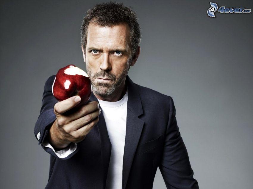 Dr. House, czerwone jabłko