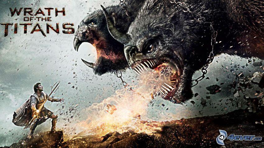 Gniew tytanów, wojownik, potwór