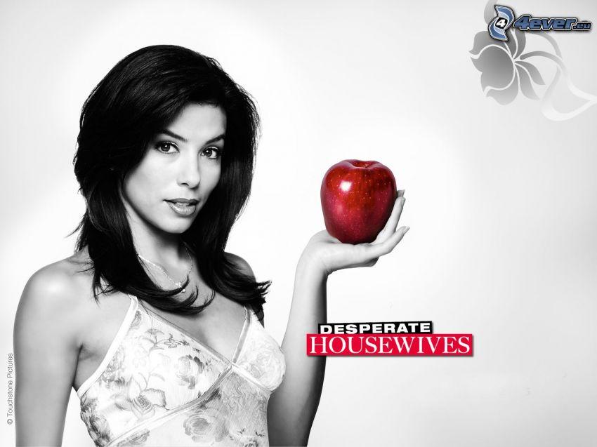 Gotowe na wszystko, czerwone jabłko