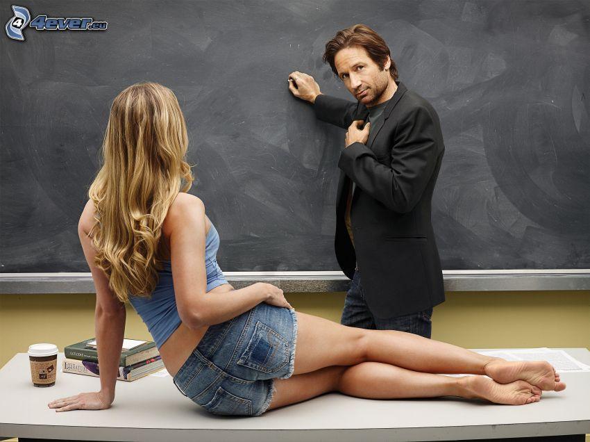 Hank Moody, sexowna blondynka, Californication, tablica