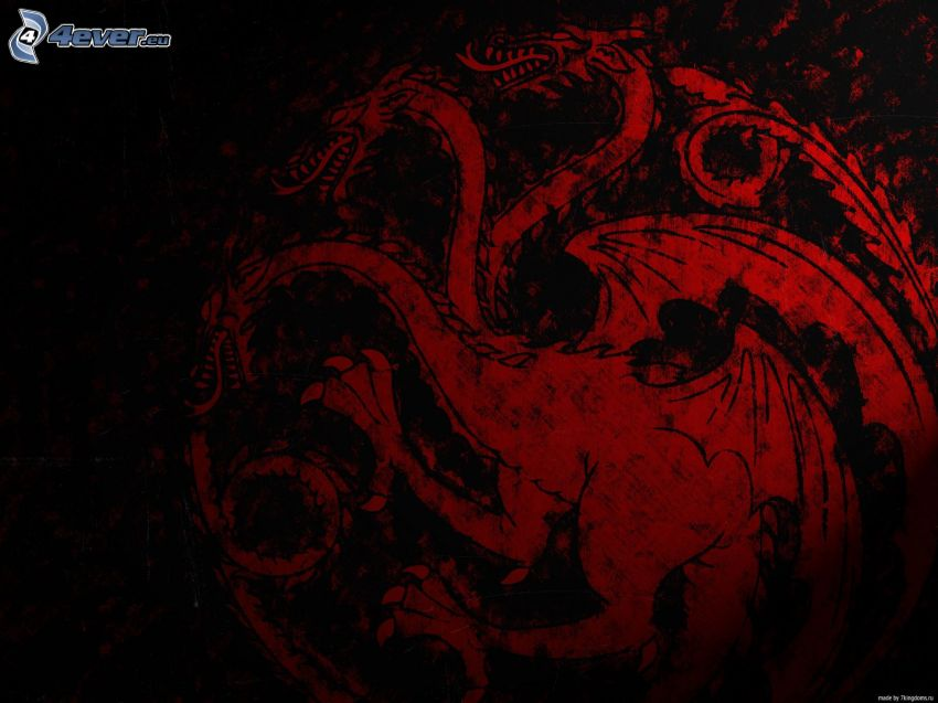 House Targaryen, A Game of Thrones, czerwony smok