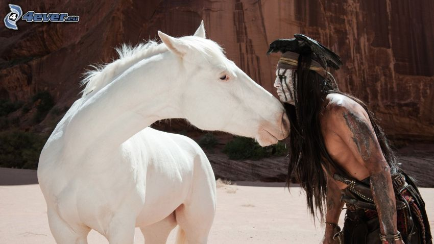 Jeździec znikąd, biały koń, Johnny Depp