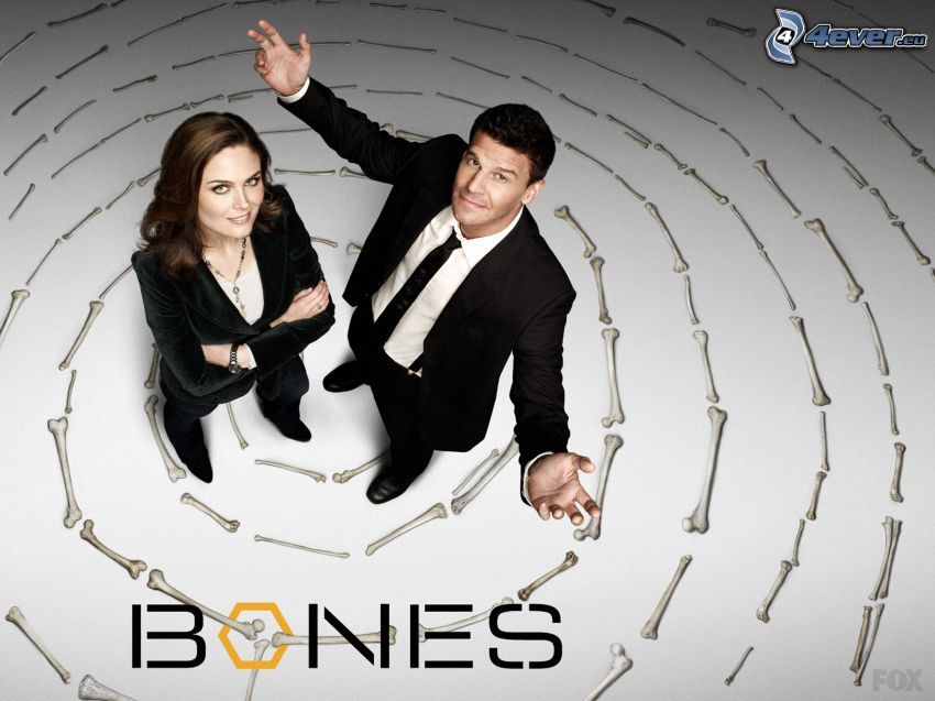 Kości, Emily Deschanel, Seeley Booth, David Boreanaz, Temperance Brennan