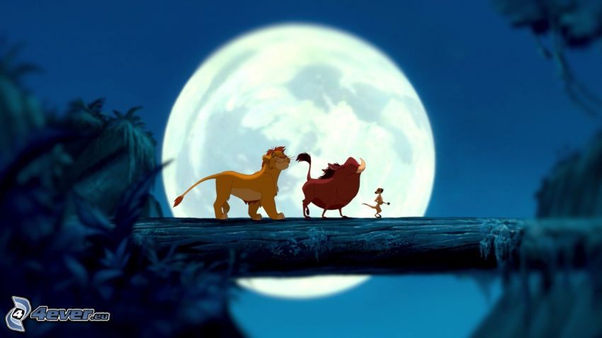 Król lew, księżyc
