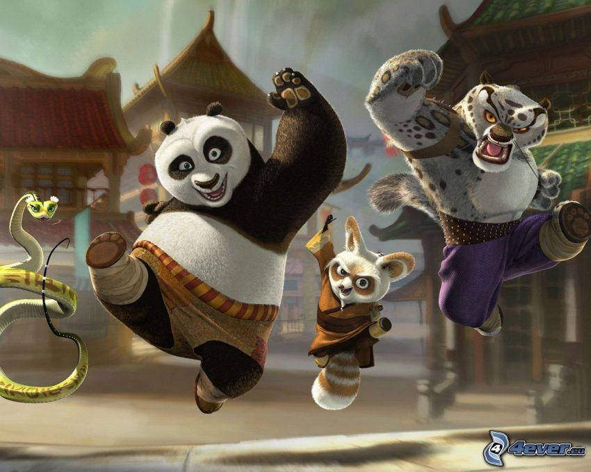 Kung Fu Panda, tygrys, wąż, Chiny