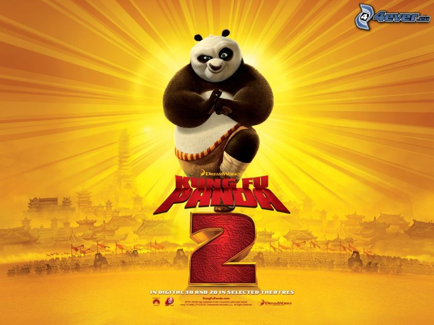 Kung Fu Panda 2, film, plakat, Panda Po