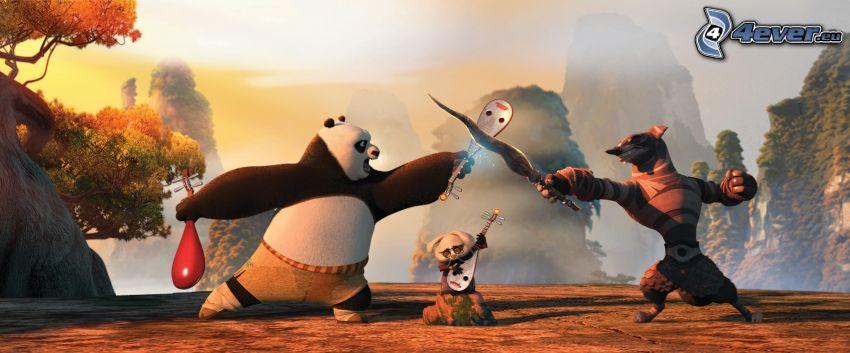 Kung Fu Panda 2, Panda Po, walka