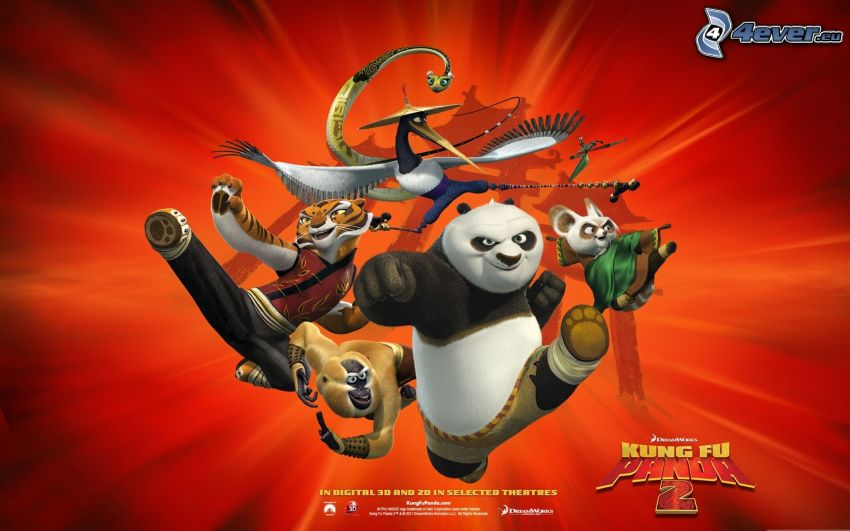 Kung Fu Panda 2, plakat, film, wojownicy