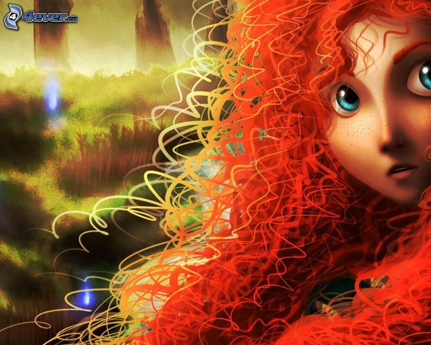 Merida Waleczna, rudowłosa