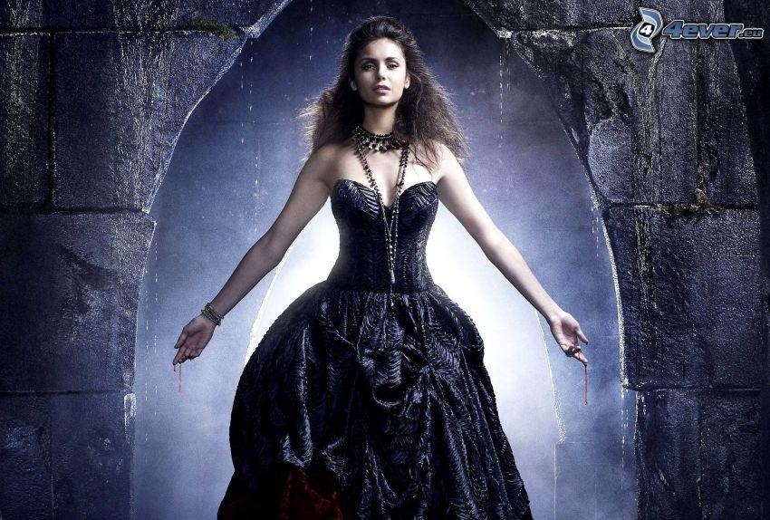 Pamiętniki wampirów, czarna sukienka