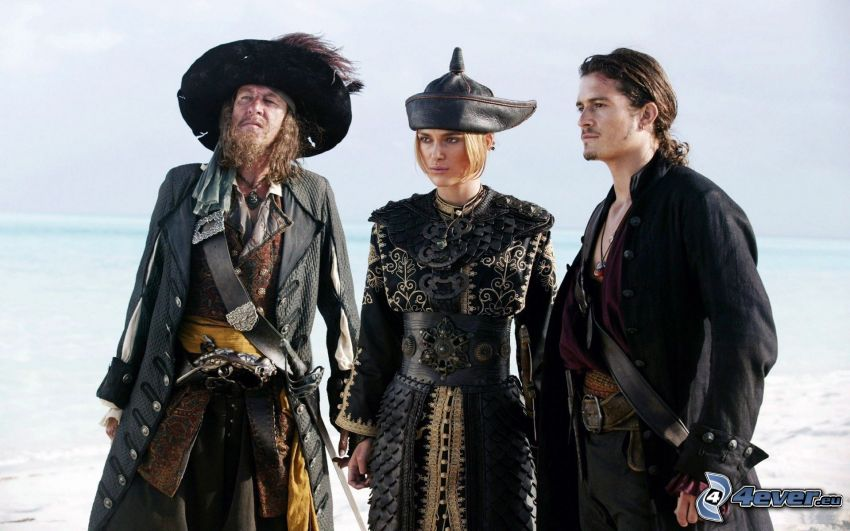 Piraci z Karaibów, Hector Barbossa, Elizabeth Swann, Will Turner