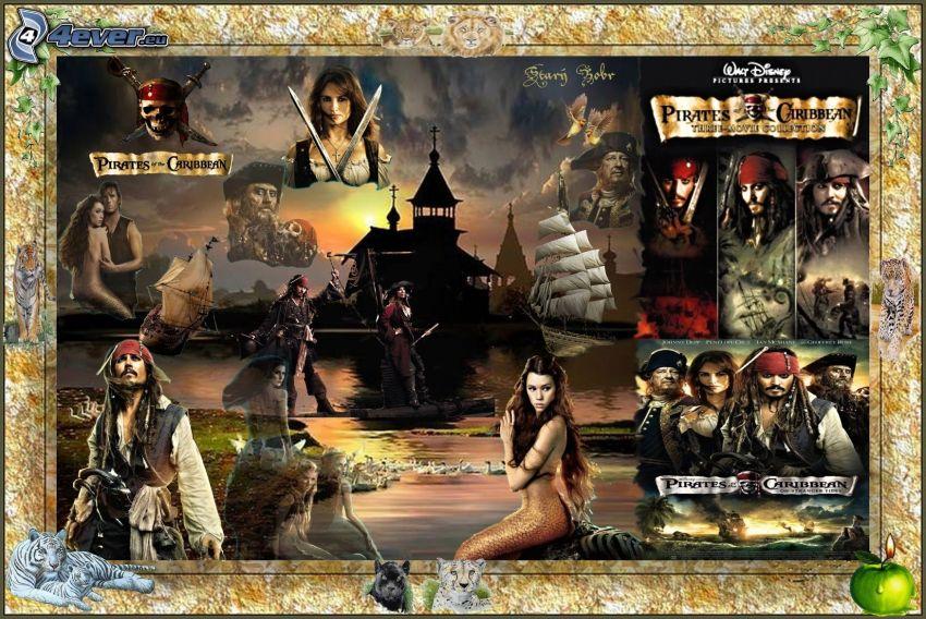 Piraci z Karaibów, Jack Sparrow, kolaż