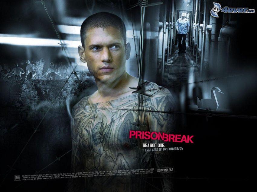 Prison Break, mężczyzna z tatuażami