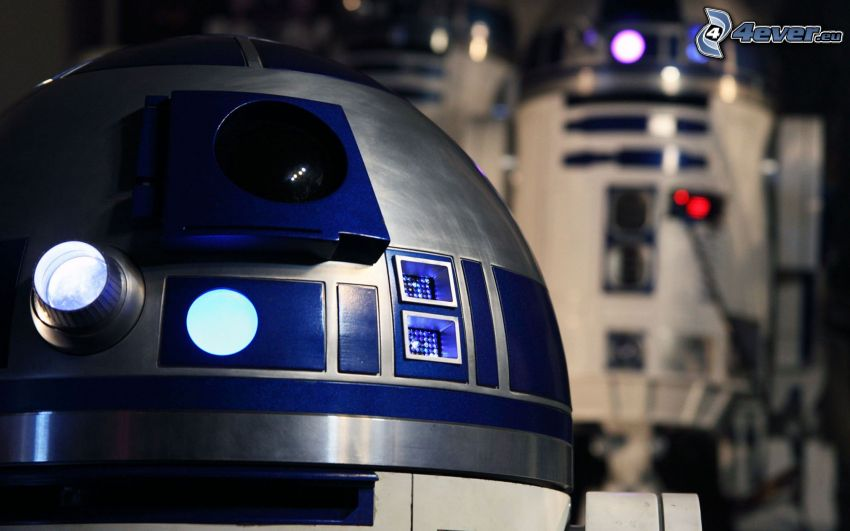 R2 D2, roboty, Star Wars