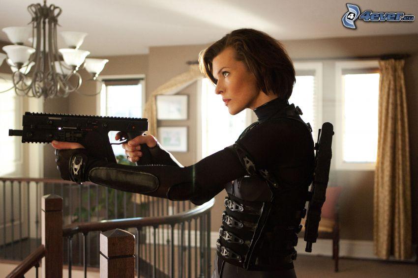 Resident Evil, kobieta z pistoletem