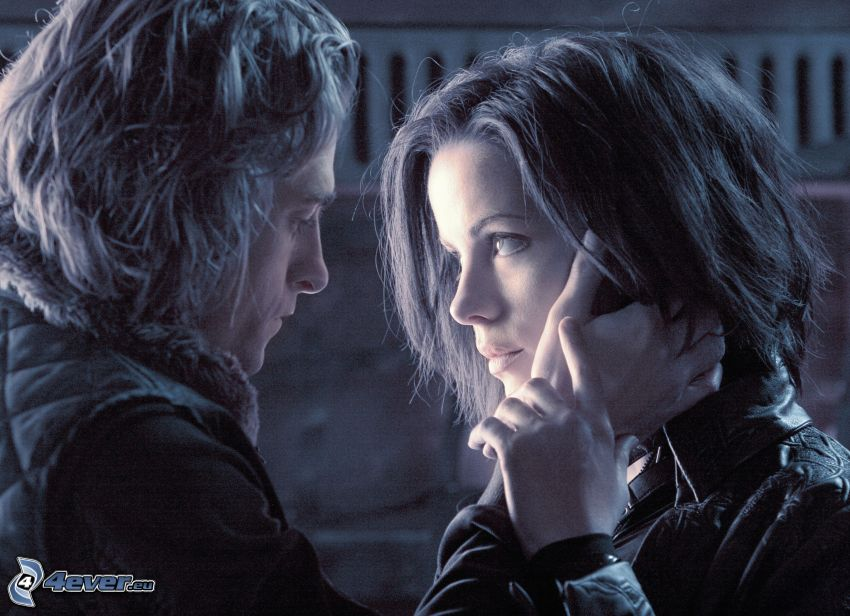 Selene & Michael, Underworld 2, Kate Beckinsale, Scott Speedman