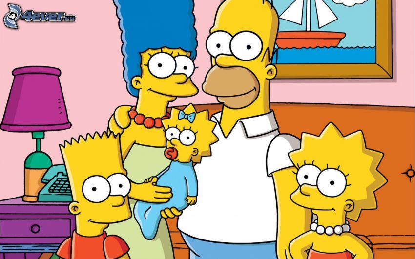Simpsonowcy, postacie z kreskówek