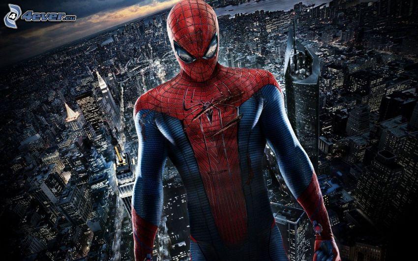 Spiderman, widok na miasto
