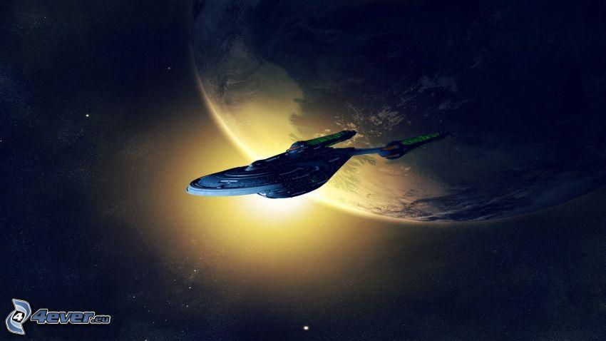 Star Trek, statek kosmiczny, Planeta Ziemia