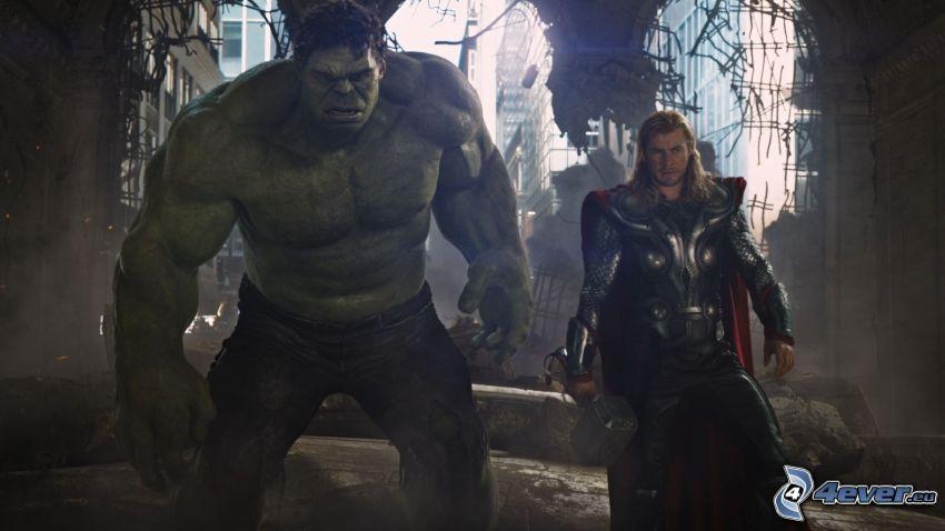 The Avengers, Hulk, Thor