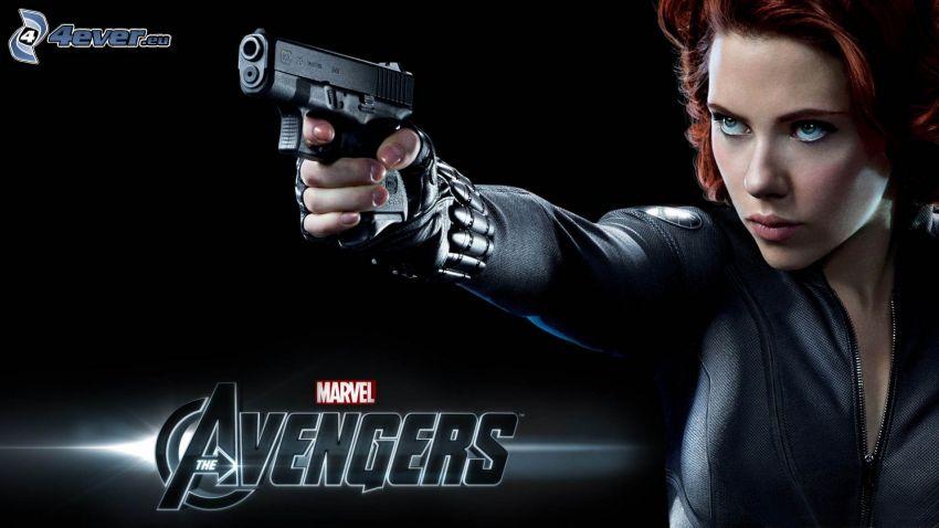 The Avengers, Scarlett Johansson, pistolet