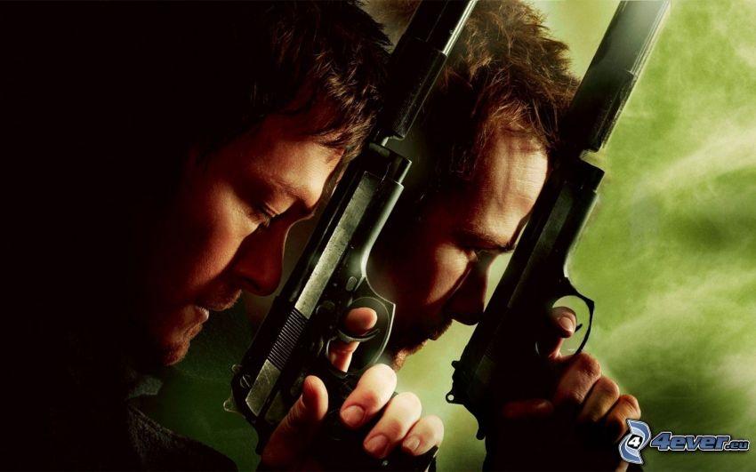 The Boondock Saints, mężczyzna z pistoletem