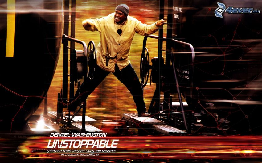 Unstoppable, Denzel Washington, pociąg