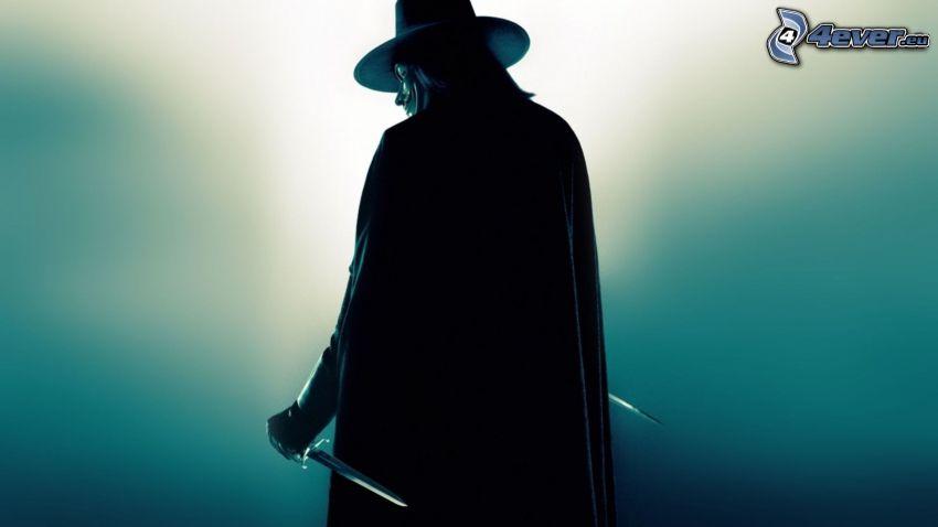 V jak Vendetta, zabójca, sztylet