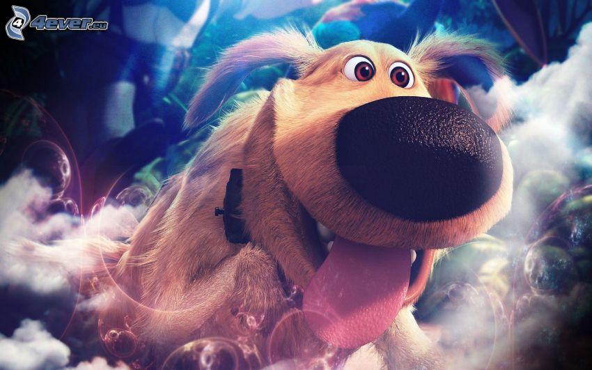 W górę, pies, język