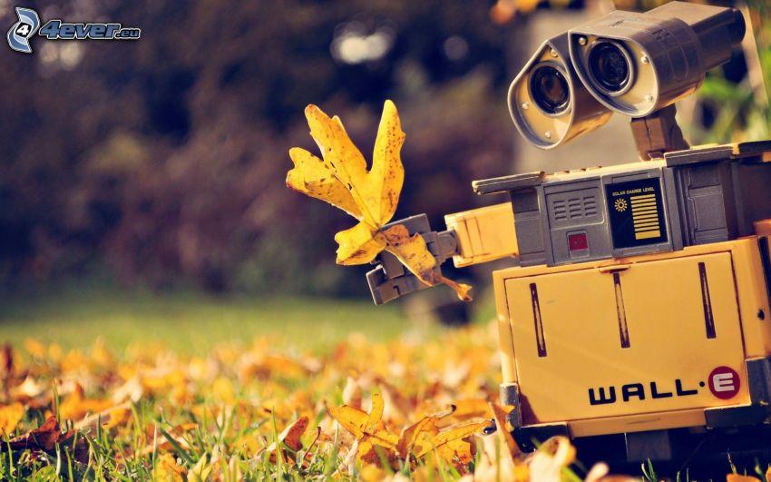 WALL·E, jesienne liście