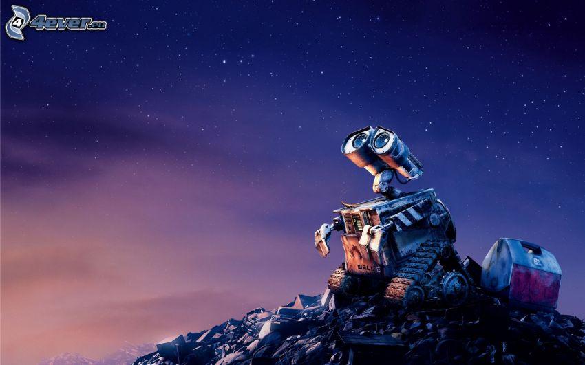 WALL·E, niebo w nocy