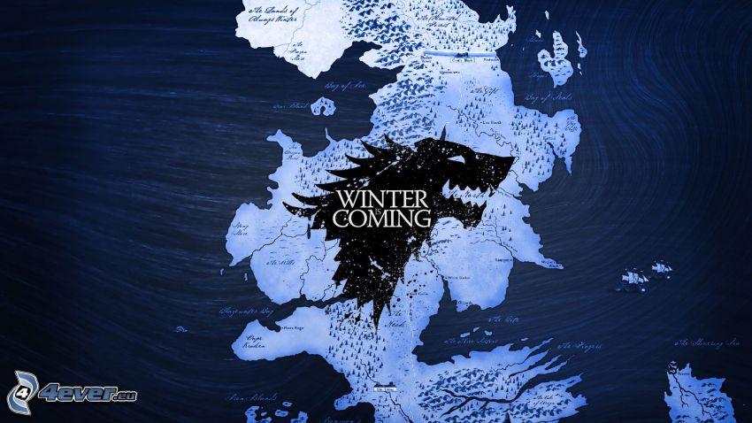 Winter is coming, mapa