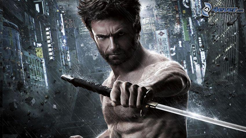 Wolverine, katana