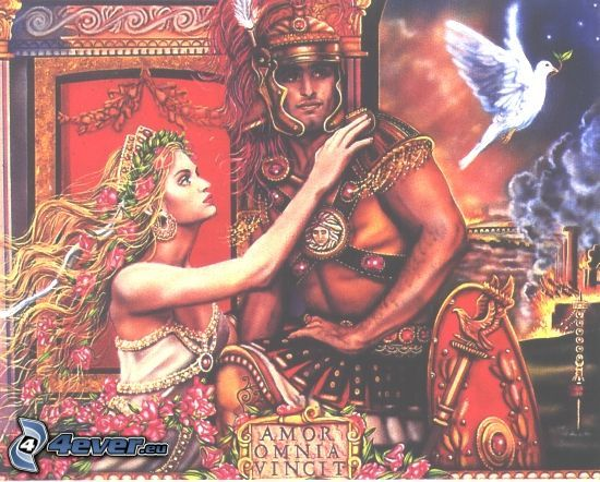 Grecja, mężczyzna i kobieta, obraz