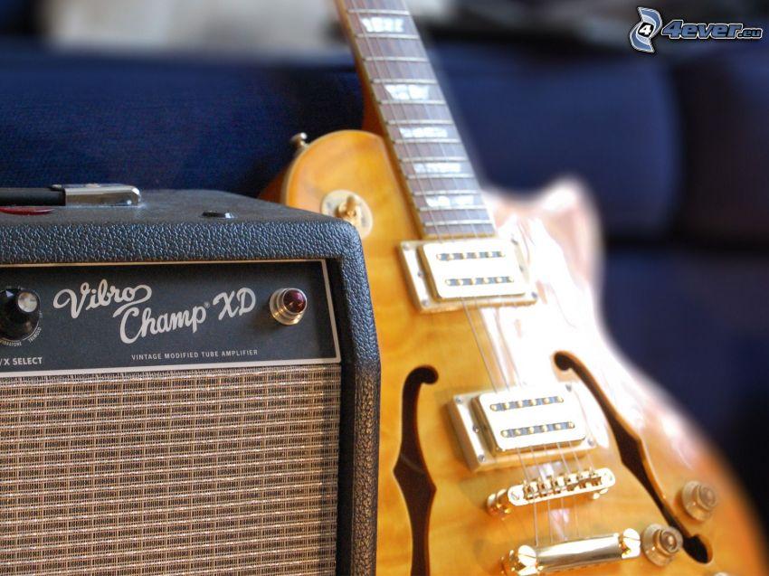 elektryczna gitara, gitarowe kombo