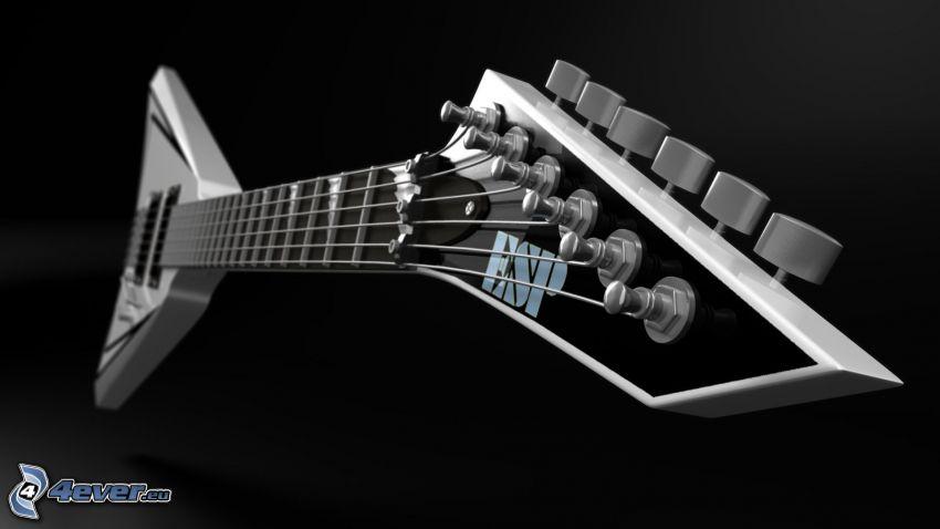 elektryczna gitara, głowa gitary