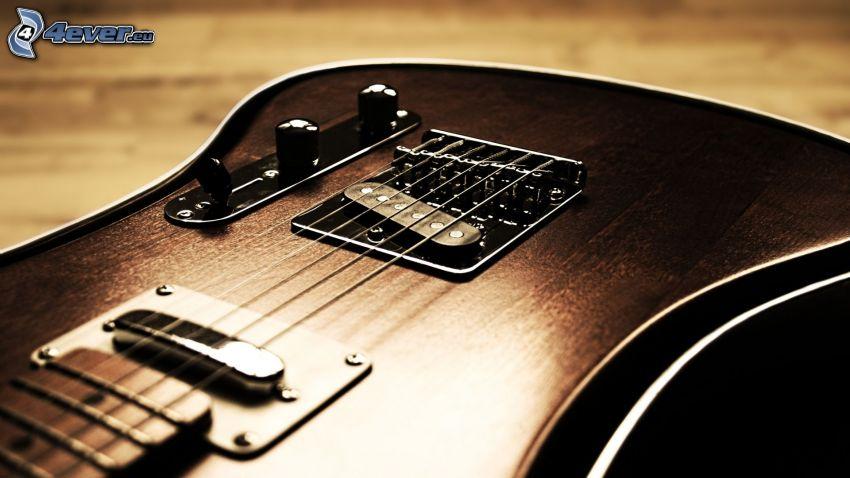 elektryczna gitara, struny