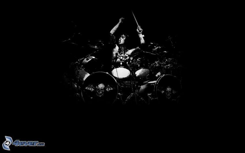 perkusista, bębny