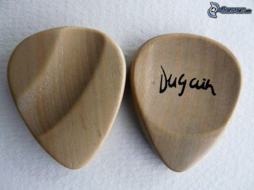 piórko do gitary, drewno
