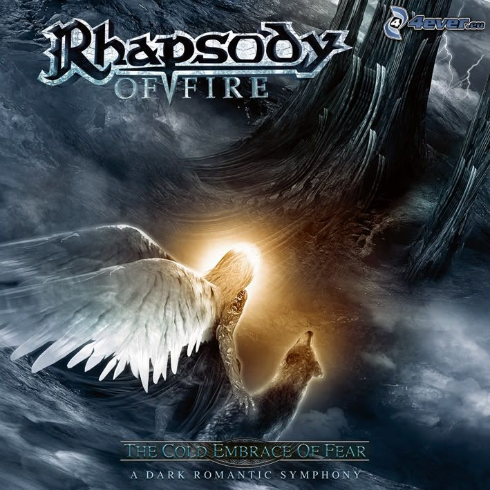 Rhapsody of Fire, The Cold Embrance Of Fear, mężczyzna, skrzydła, wilk